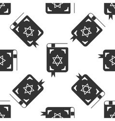 Jewish torah book icon pattern on white background vector image