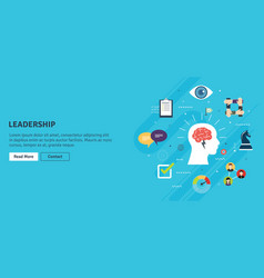 leadership vision and strategy confidence in vector image
