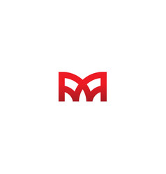 m geometry monogram logo vector image