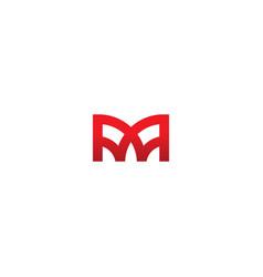 M geometry monogram logo vector