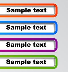 Menu item design elements vector