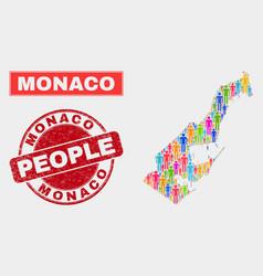 Monaco map population demographics and unclean vector