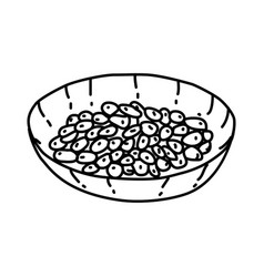 natto icon doodle hand drawn or outline icon style vector image