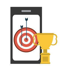 online championship trophy cup vector image