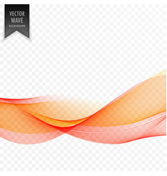 Orange abstract wave stylish background vector