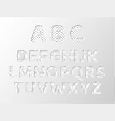 paper cut letters with dotted pattern 3d paper vector image