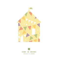 Party decorations bunting house silhouette pattern vector