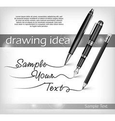 Pencil and pens signs text vector