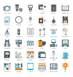 photographer and designer gadget vector image