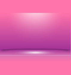 pink and purple studio background with spotlight vector image