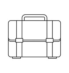 portfolio briefcase isolated icon vector image