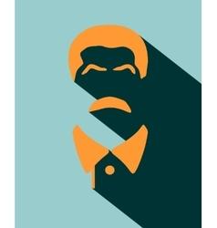 Portrait of Joseph Stalin Flat icon style vector