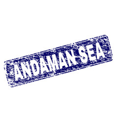 scratched andaman sea framed rounded rectangle vector image