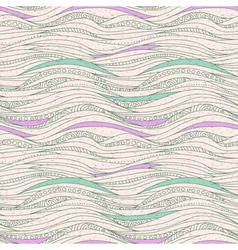 Seamless drawing pattern with waves vector image