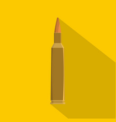 Single bullet icon flat style vector