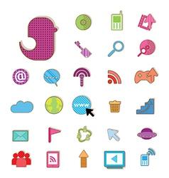 Social color Media color Icon Network vector