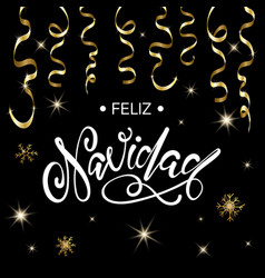 Spanish merry christmas feliz navidad vector