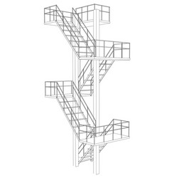 Stair on white background vector
