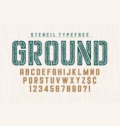 stencil original condensed alphabet creative vector image