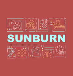 Sunburn word concepts banner vector