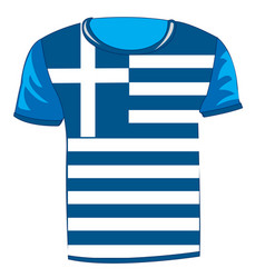 t-shirt with flag greece vector image