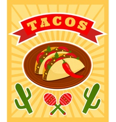 Taco poster vector