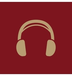 The headphone icon Sound symbol Flat vector