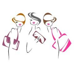 Three women vector image