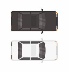 top view two sedan cars vector image