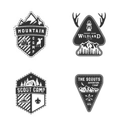 Travel badges outdoor activity logo collection vector