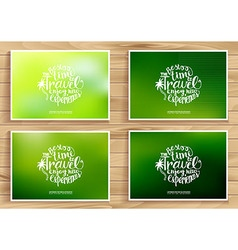 Travel time posters set vector