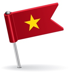 Vietnamese pin icon flag vector image