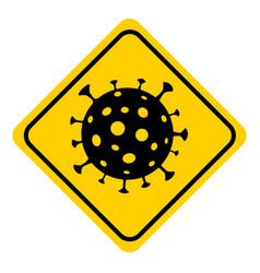 virus covid-19 caution coronavirus icon flat web vector image