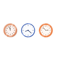 Wall clock collection isolated on white background vector