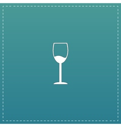 Wine glass icon Alcohol drink symbol vector