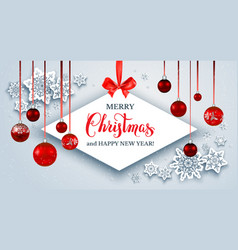 winter christmas holiday banner vector image