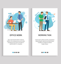 work task and office business decision vector image