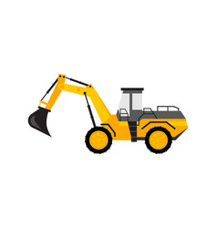 yellow excavator toy vector image