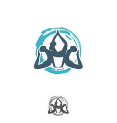 yoga design symbol vector image