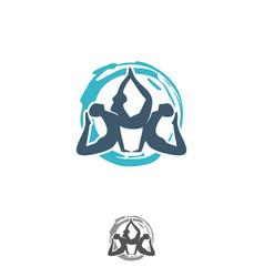 yoga design symbol vector image