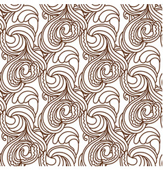 Zentangle wavy seamless pattern vector