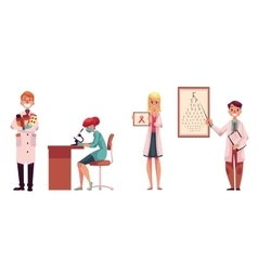 Doctors - pharmacist laboratory assistant vector image