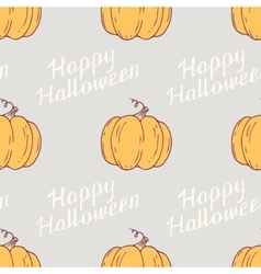 Hand drawn happy halloween seamless pattern with vector image vector image