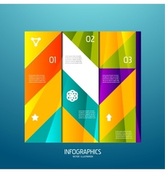 Infographic banner design elements numbered lists vector image