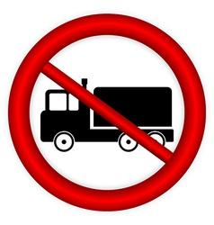 No cargo car road sign vector image vector image