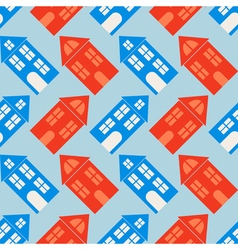 seamless background with houses vector image