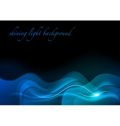 wave neon light dark blue vector image