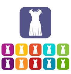 woman dress icons set vector image