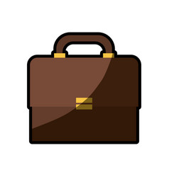 briefcase business paper shadow vector image
