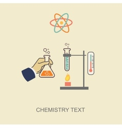 Chemistry infographic infographics template vector image vector image